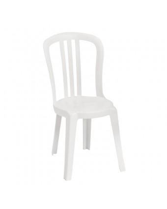 Chaise en résine Bistro Miami - Blanc