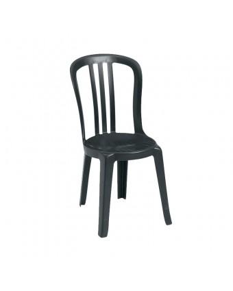Chaise en résine Bistro Miami - Noir