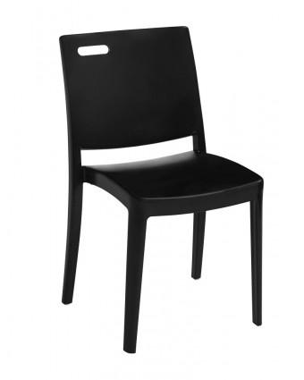 Chaise en résine Metro - Noir