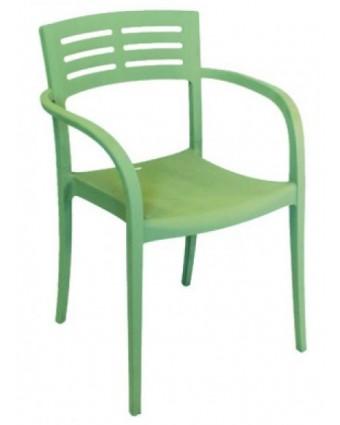 Chaise d'extérieur avec appuis-bras Vogue - Vert sauge