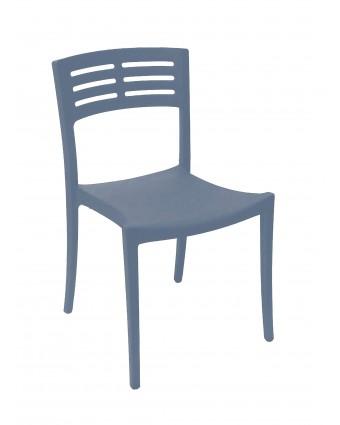 Chaise en résine Vogue - Bleu