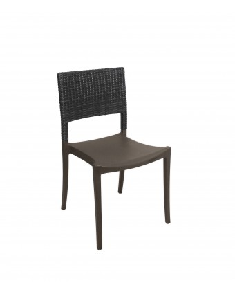 Chaise en résine Java - Charbon