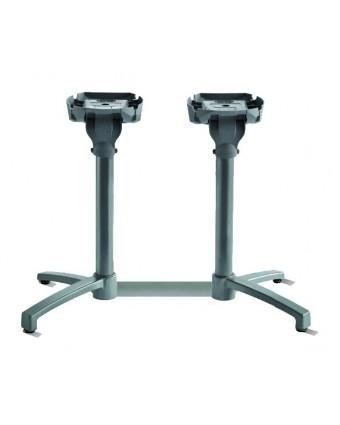 Base de table à tête inclinable - Argent