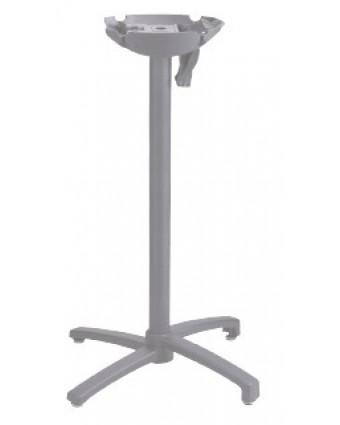 Base de table de bar à tête inclinable - Argent