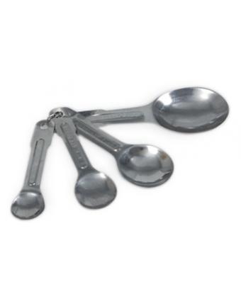Ensemble de quatre cuillères à mesurer en acier inoxydable