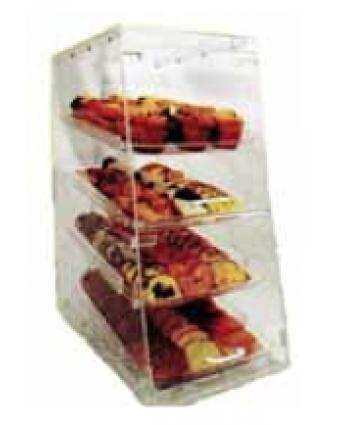 """Présentoir à pâtisseries en acrylique à quatre plateaux 14"""""""
