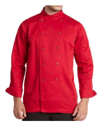 Veste de Chef Gusto pour Homme - Cerise (X-Large)