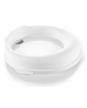 Couvercle Réutilisable pour Tasse 12 oz - Blanc