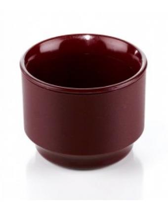 Bol isolant en plastique 5 oz – Traditional bourgogne (caisse de 48)