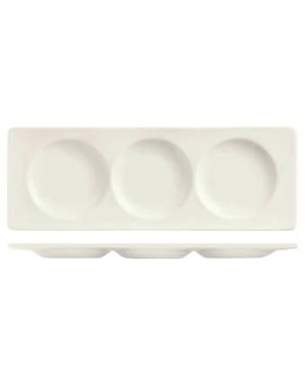 """Assiette de service à trois compartiments 13"""" x 4,6"""" - Chef Selection II"""