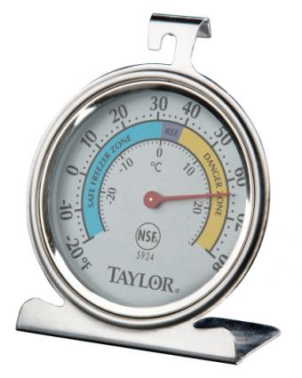 Thermomètre de réfrigérateur et de congélateur à cadran