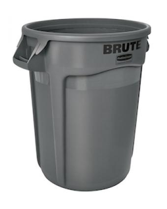 Poubelle Brute 166,6 L - Gris