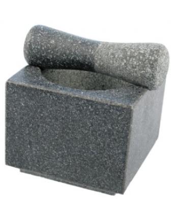 Mortier et pilon en granit Wasabi