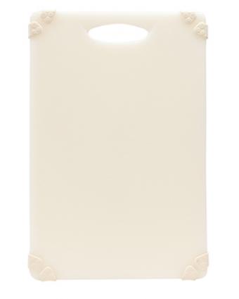"""Planche à découper en polyéthylène 18"""" x 12"""" - Blanc"""