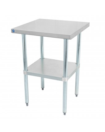 """Table de travail en acier inoxydable avec tablette 30"""" x 24"""""""