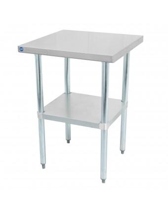 """Table de travail en acier inoxydable avec tablette 24"""" x 24"""""""