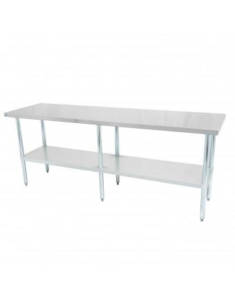 """Table de travail en acier inoxydable 96"""" x 30"""""""