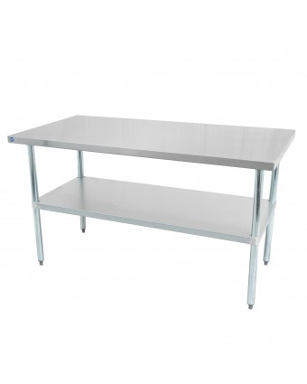 """Table de travail en acier inoxydable 48"""" x 30"""""""