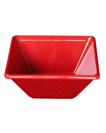 Bol carré en mélamine 8'' – Passion Red
