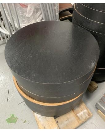 Dessus de table rond - Noir (usagé)