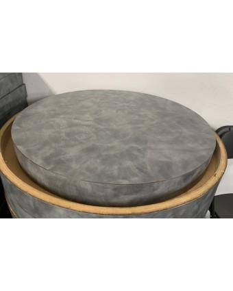 Dessus de table rond - Gris (usagé)