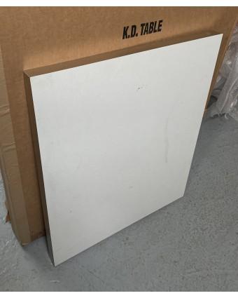 Dessus de table rectangulaire - Blanc (usagé)