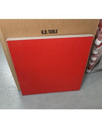 Dessus de table rectangulaire - Rouge (usagé)