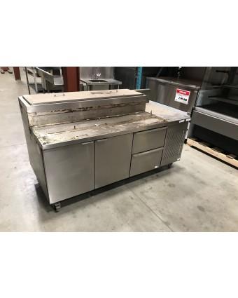 Table de préparation réfrigérée deux portes et deux tiroirs (usagée)
