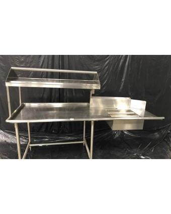 Évier de rinçage, table à vaisselle souillée et tablette (usagé)