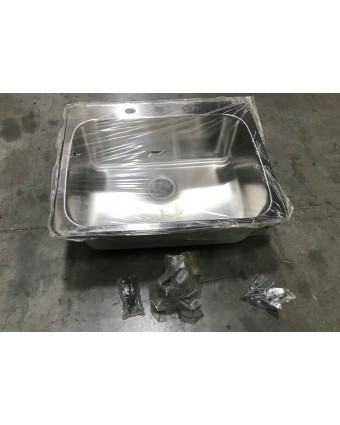 Évier en acier inoxydable rectangulaire (usagé)