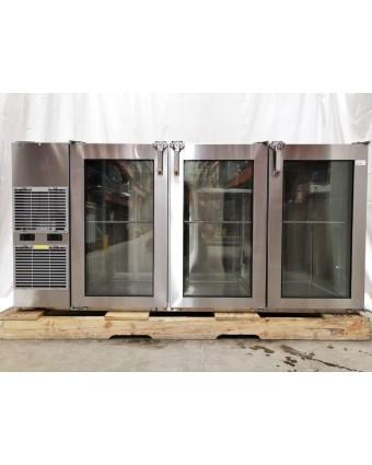 """Réfrigérateur à vin trois portes vitrées 72"""" (usagé)"""
