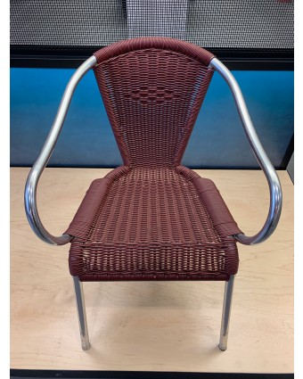 Chaise d'extérieur avec appuis-bras - Bourgogne (usagé)