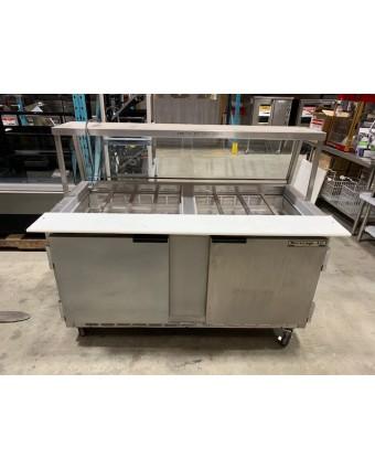 Table de préparation réfrigérée deux portes pleines (usagée)