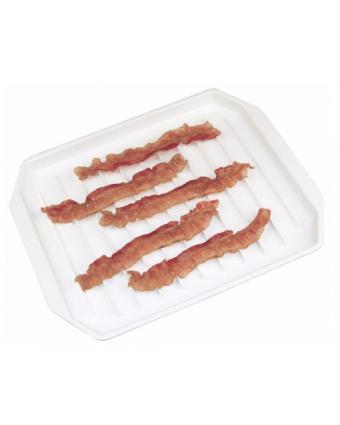 Plat pour Cuisson de Bacon au Micro-ondes