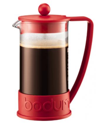 Cafetière à piston Brazil 8 tasses – Rouge