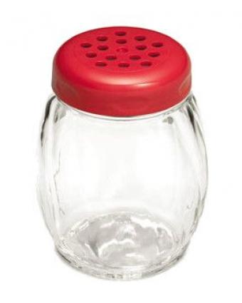 Saupoudreuse en verre à trous 6 oz