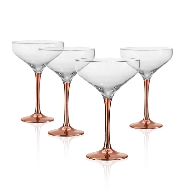67198afd1e1 Set of 4 Cocktail coupe glasses 10 oz- Coppertino - Doyon Després