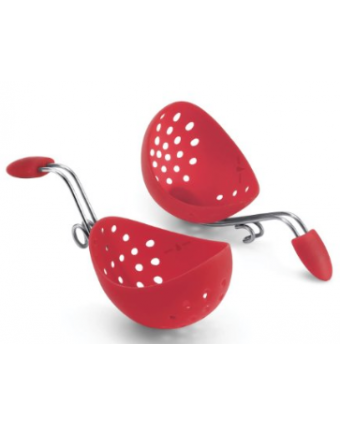 Set of Two Silicone Egg Poachers